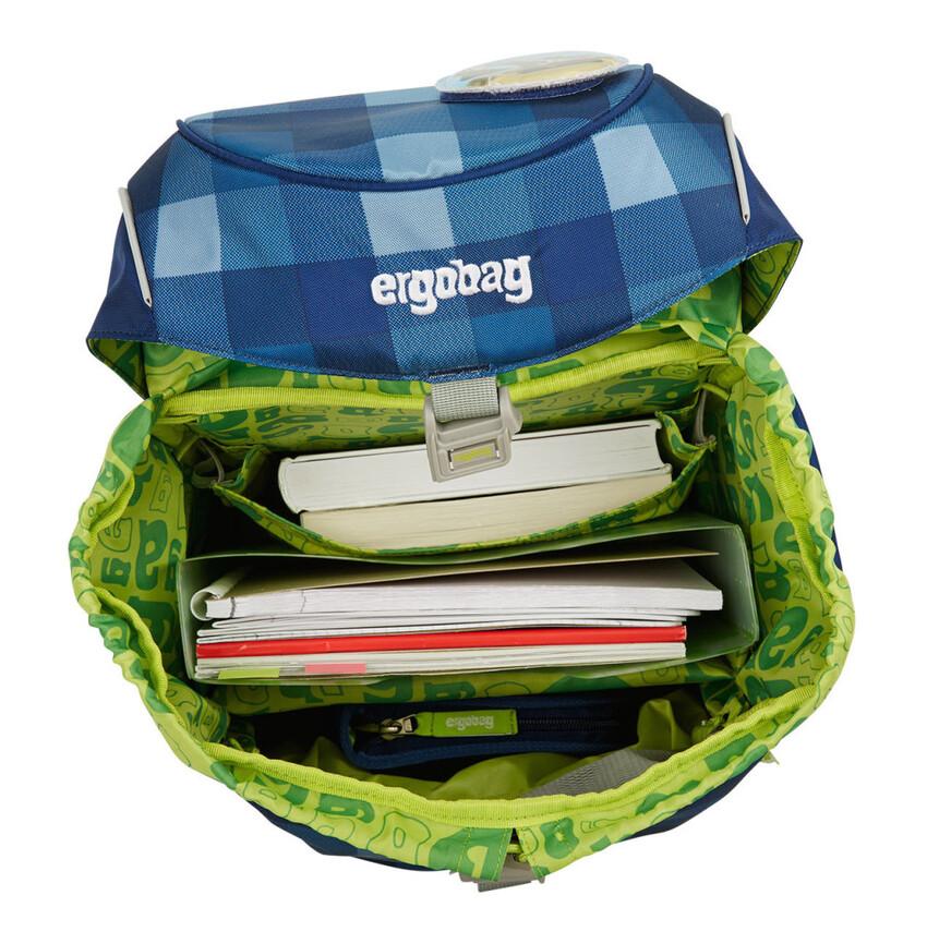 Schultasche Prime - blau-grün ZigZag